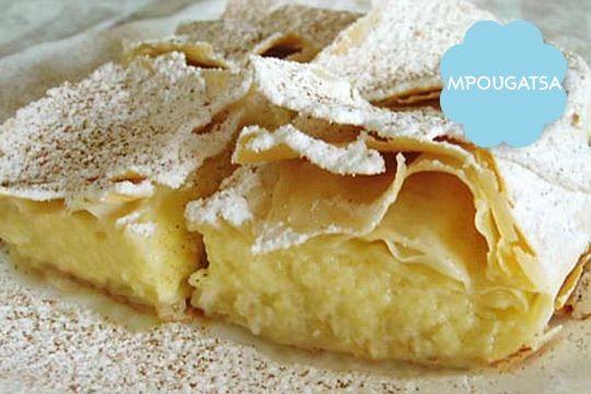 Greek sweet called Mpougatsa