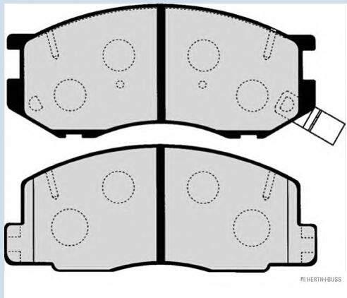 REAR brake pads D263 04465-28180 for TOYOTA  LITEACE