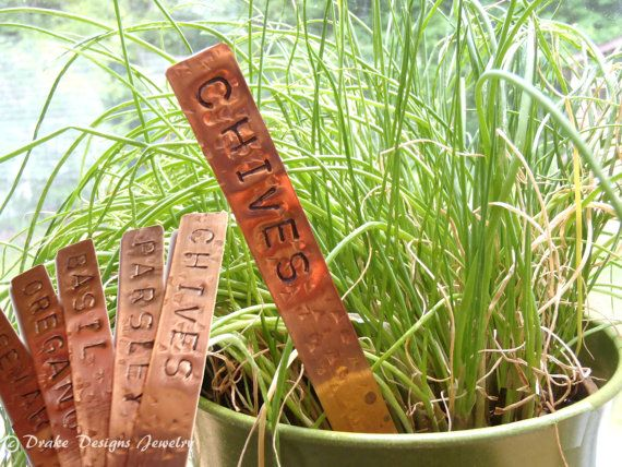 Copper Garden Markers Set Of 5 Personalized Solid Copper