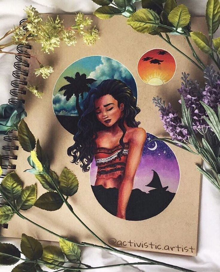 """575 Likes, 23 Comments - ❁ϖεʆɕσʍε ϯσ ʍψ αɾϯ αɕɕσմηϯ!❁ (@activistic.artist) on Instagram: """"Moana (New photo with better lighting) Here's my drawing of Moana, completed! This was a fun…"""""""