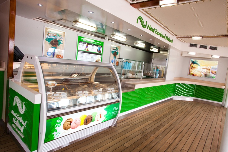 New Zealand Natural Ice Cream Parlor, Pacific Dawn
