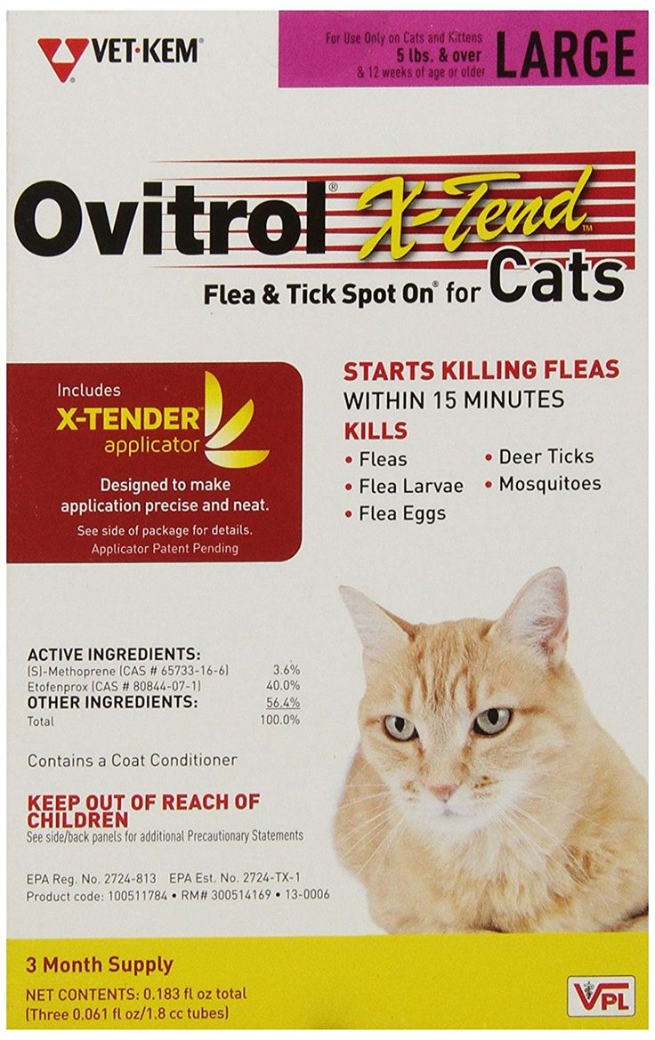 Ovitrol X Tend Spot On For Cat 5 Pound Want To Know More Click On The Image This Is An Affiliate Link And I Receive A Comm Cat Fleas Flea And Tick
