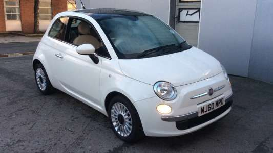 Used 2010 (60 reg) White Fiat 500 1.2 Lounge 3dr (Start Stop) for sale on RAC Cars