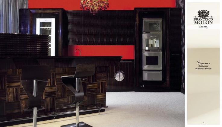 Luxusní kuchyně Francesco Molon Tuscany z exotického dřeva, kompletní nabídka: http://www.saloncardinal.com/francesco-molon-f65
