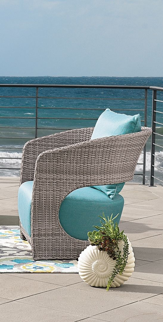 Indulge your eye for the modern and fresh, without sacrificing comfort, when you take your place in our curvaceous Angela Outdoor Seating Collection.