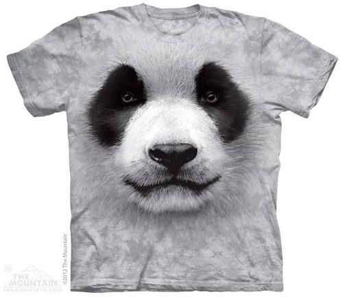 This big face panda t-shirt by The Mountain® has .