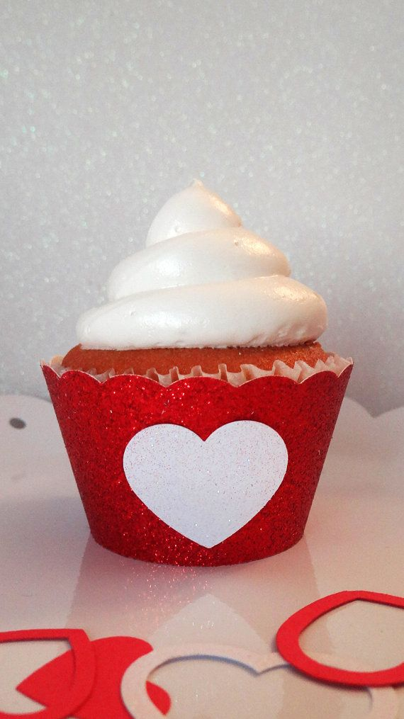 Glitter Cupcake Wrappers- Embellished Set of 12 on Etsy, $13.50