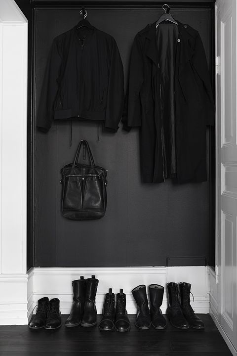 I love the idea of having a small area of your walls painted black. Like for the inside of a closet.
