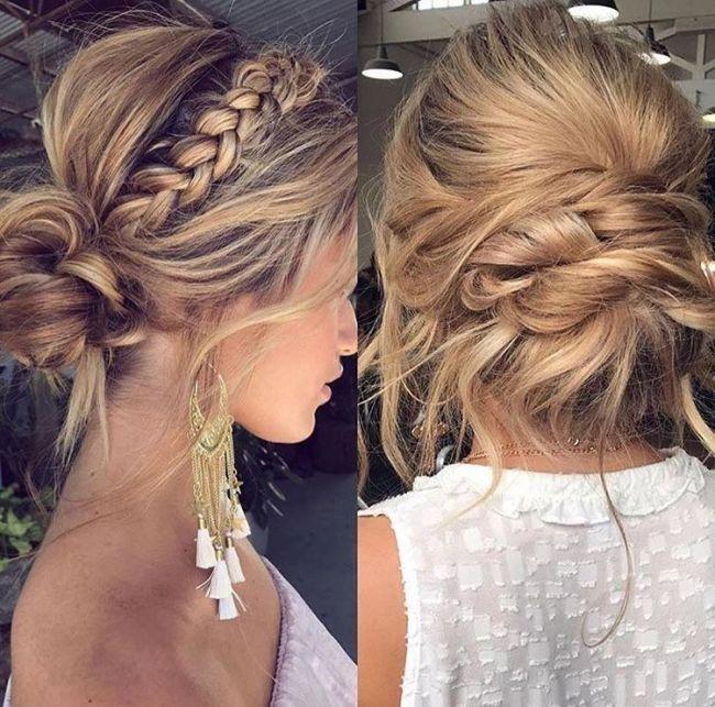 Casual Updos For Medium Length Hair Casual Updos For Medium Fine Hair On Medium Haircuts Updos For Medium Length Hair Hair Styles Long Hair Updo