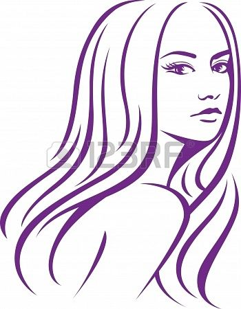 female woman with long hair  Stock Photo - 17588125
