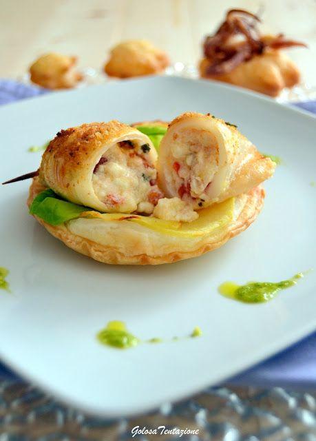 #Secondo di #calamari ripieni di feta e pomodori