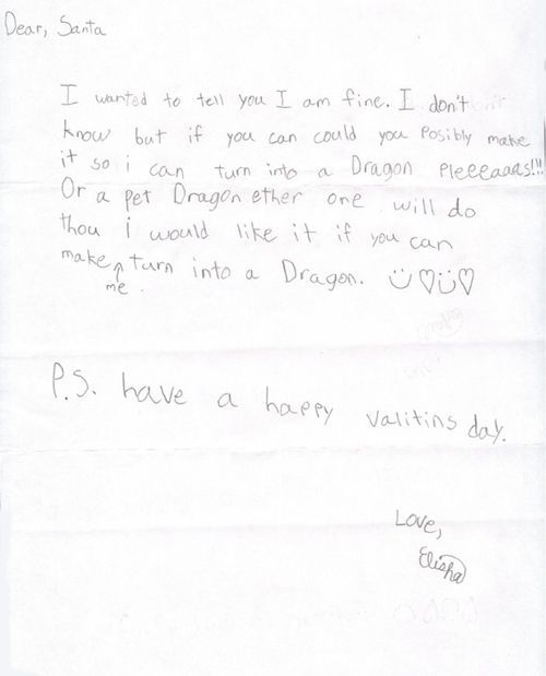 Funny kids' letters to Santa