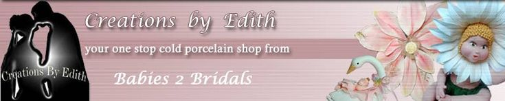 CREATIONS BY EDITH , COLD PORCELAIN, Porcelana Fria, Cake Supplies, Baby Shower, Bridal FAVORS, Cake Tops, Metal Cutters, Rolling Pins, Bouq...