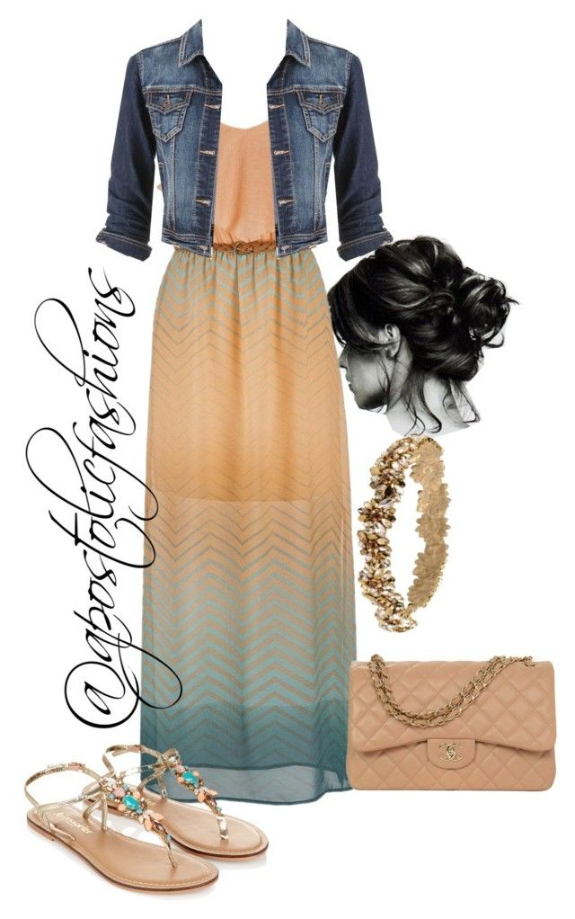 """""""Apostolic Fashions #497"""" by apostolicfashions ❤ liked on Polyvore featuring maurices, Accessorize, Jenny Packham and Chanel"""