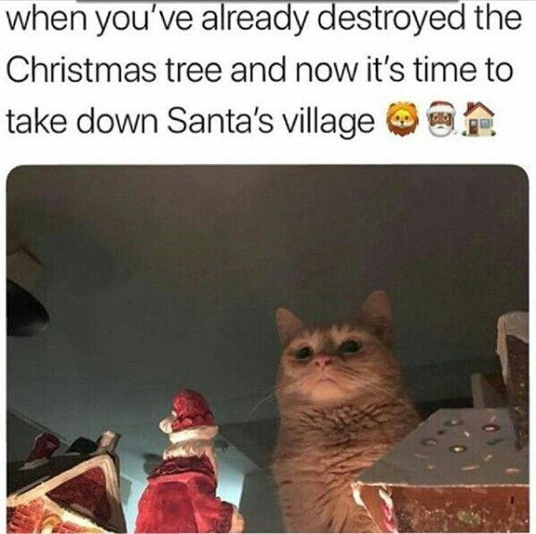 when you've already destroyed the Christmas tree and now it's time to take down Santa's Village