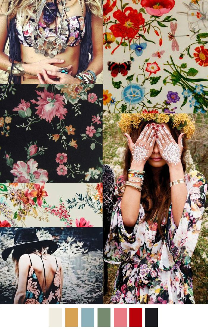 Seguimos con tendencia de estampados floreados, preciosos! GYPSY (SS 2016) via patterncurator.org