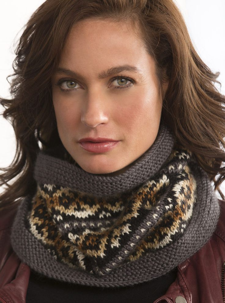 Free Knitting Pattern for Fair Isle Cowl - Variegated yarn adds even more dimension to this colorwork cowl by Melissa Leapman.