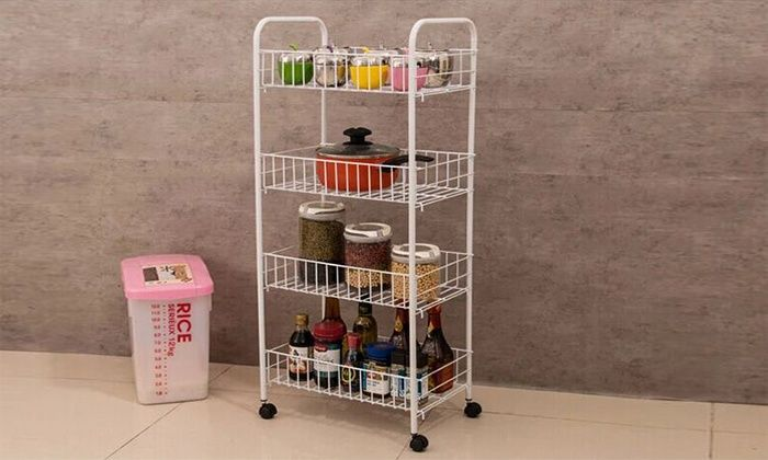 Groupon Goods Global GmbH: Four-Tier Kitchen Storage Trolley with Wheels for £9.98