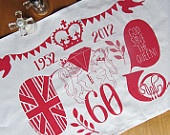 Queen's Diamond Jubilee tea towel to mark 60 years on the throne, Stephanie Cole DESIGN