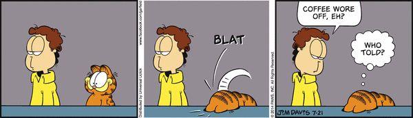 Monday - coffee -- Garfield Comic Strip, July 21, 2014 on GoComics.com