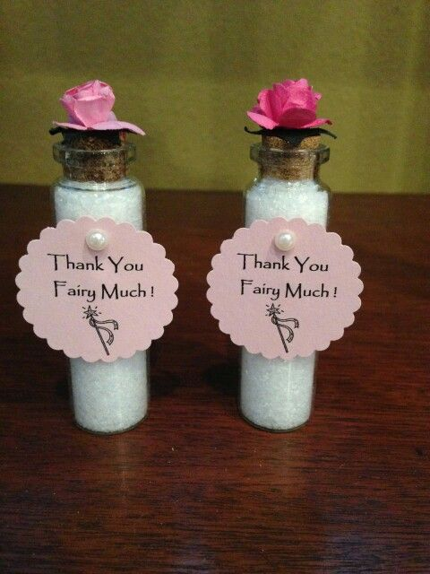 Garden/Fairy baby shower party favors