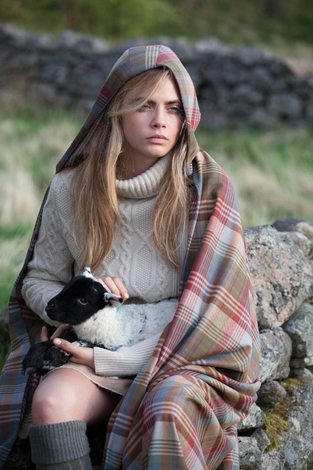 Behind the Scenes with Cara Delevingne for Mulberry Autumn Winter 2014 Journal -  #Fashion is GREAT Britain!