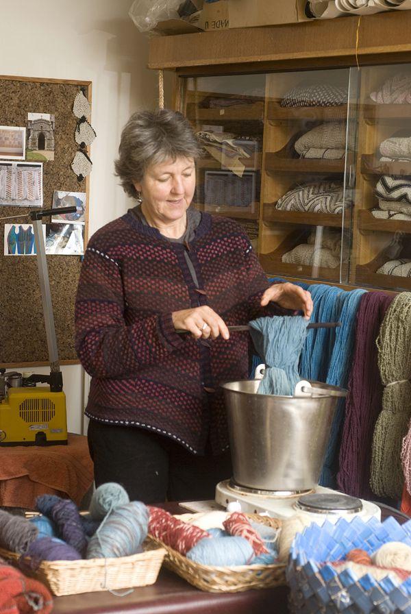Alison Ellen, knitter, Surrey Artists Open Studios