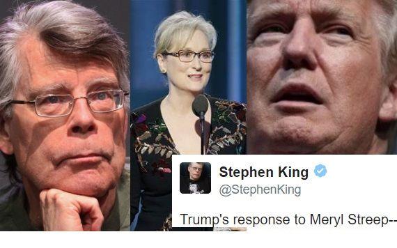 Stephen King Just Summed Up Trump's Attack On Meryl Streep Brilliantly
