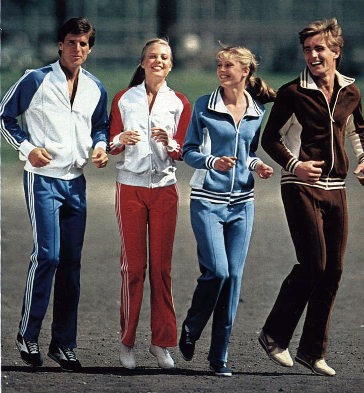 tracksuits from a 1981 catalog 1980s vintage clothing