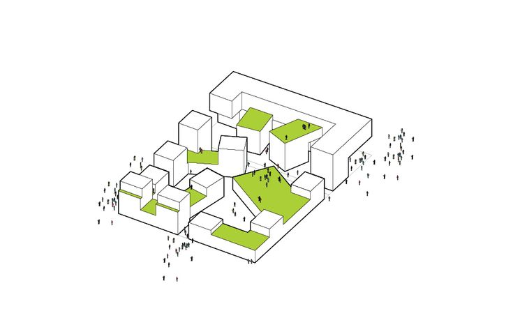 A4E Macro Lot Zac Rive de Seine by JDS architects #architecture #diagram