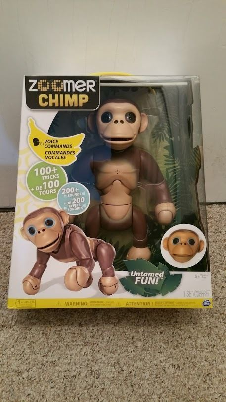 Brand New Zoomer Chimp Interactive Robot Toy Monkey Never opened or used #zoomer
