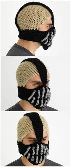Bane mask #crochet no-pattern