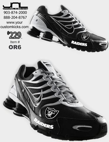 Custom Oakland Raiders Nike Turbo Shox Team Shoes – JNL Apparel