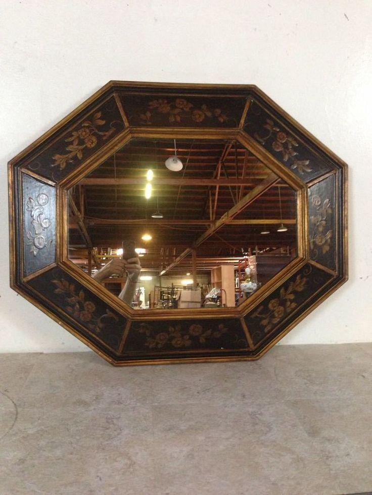 Framed Octagon Mirror