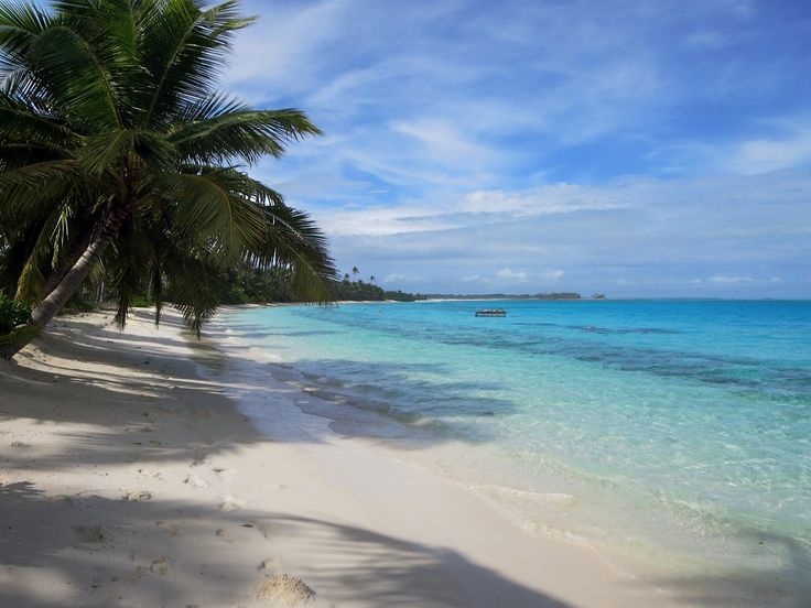 This lagoon beach on Direction Island, Cocos (Keeling) Islands, is a great place for a swim.
