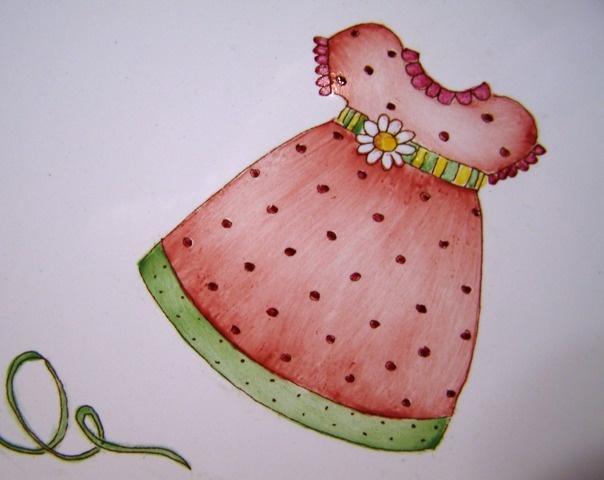 Pintura sobre porcelana Claudia Kunze   http://www.manosalaobra.tv/Detalle-de-articulos/ArticleId/974/Ninas-romanticas.aspx