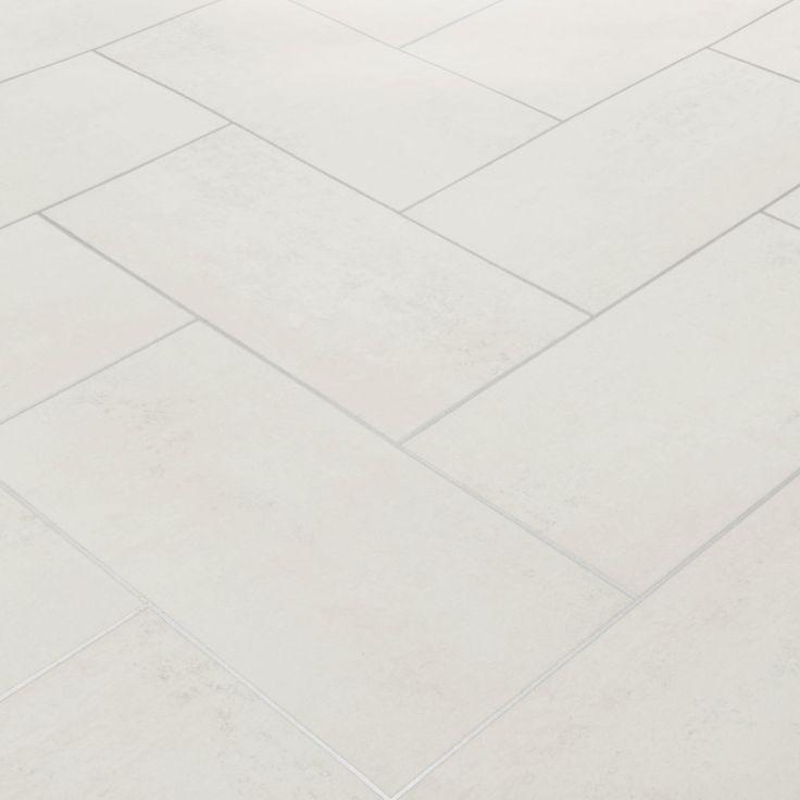Floorgrip 502 Bilbao White Stone Tile Vinyl Flooring