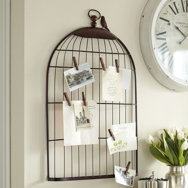 Garden-Fresh Décor for Every Space: Mementos take flight when displayed on this delightful birdcage photo holder.