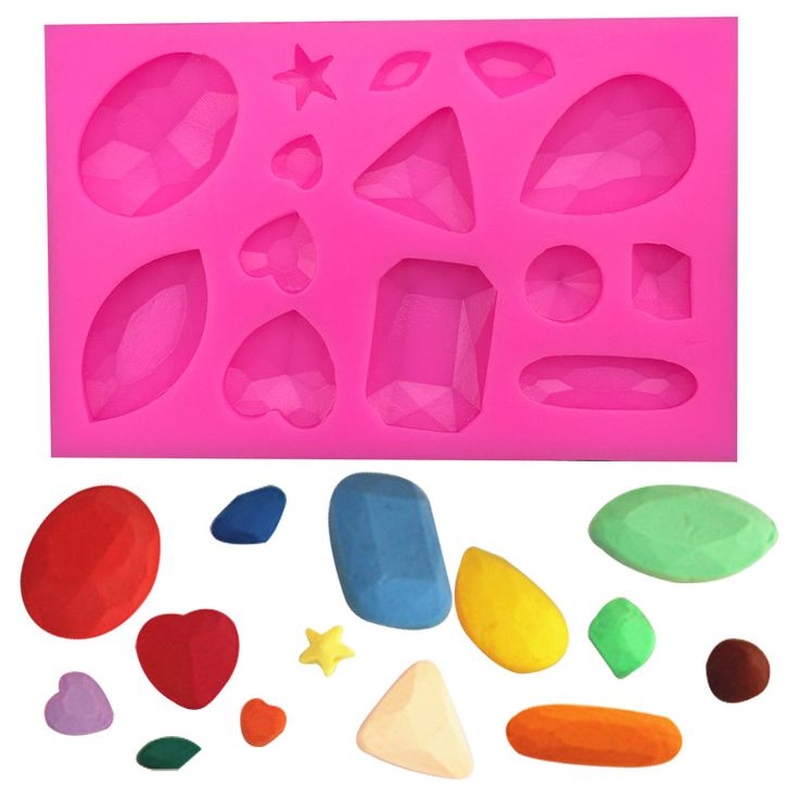 1 x Crystals and Gems Shape Silicone Mold Mold Size: 10.2 cm x 6.5 cm Material: Silicone Temperature: -40° ~ +230° ★ Easy to clean ★ Food Safe, FDA Approved ★ Can be used in the refrigerator, oven, di