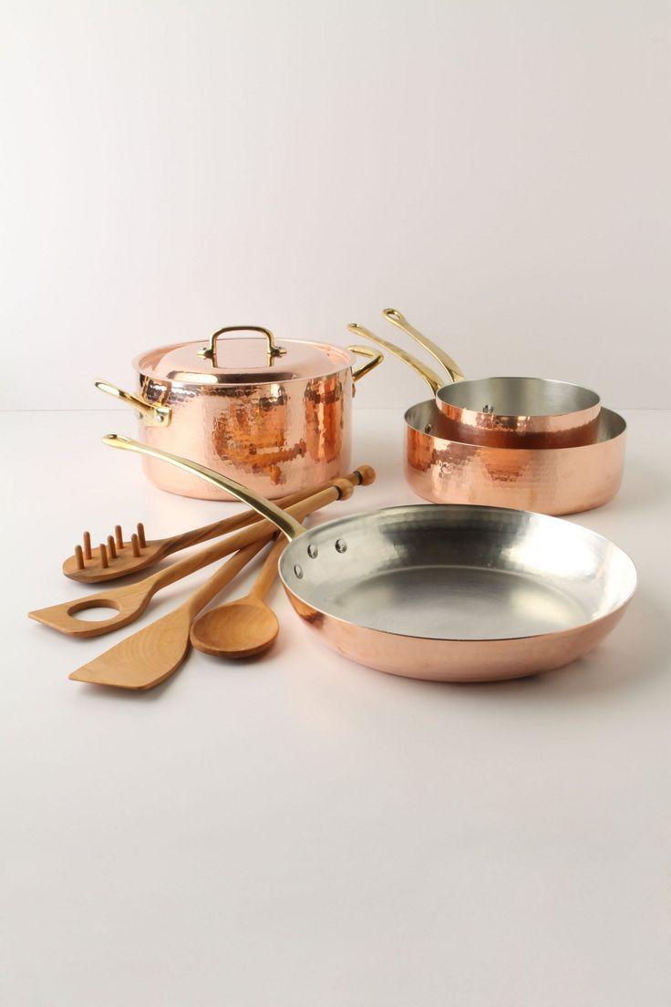 ruffoni copper cookware set beautiful copper and bespoke. Black Bedroom Furniture Sets. Home Design Ideas