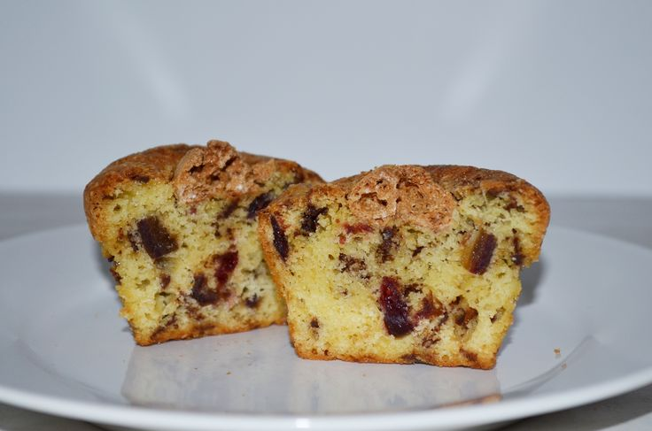 Cranberry Chocolate Muffins with Amaretto