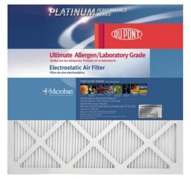 "DuPont AF-P1420 ProClear Maximum Allergen Electrostatic Air Filter, 14"" x 20"" x 1"""