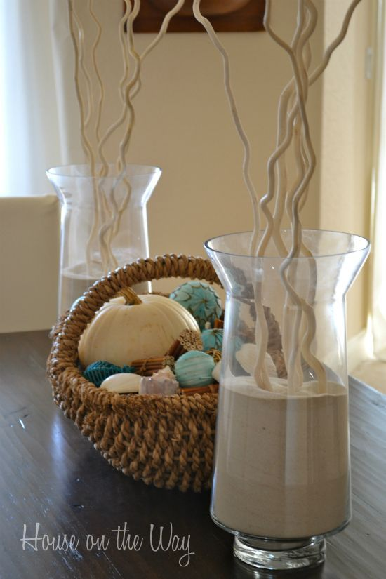 fall beach decor from house on the way