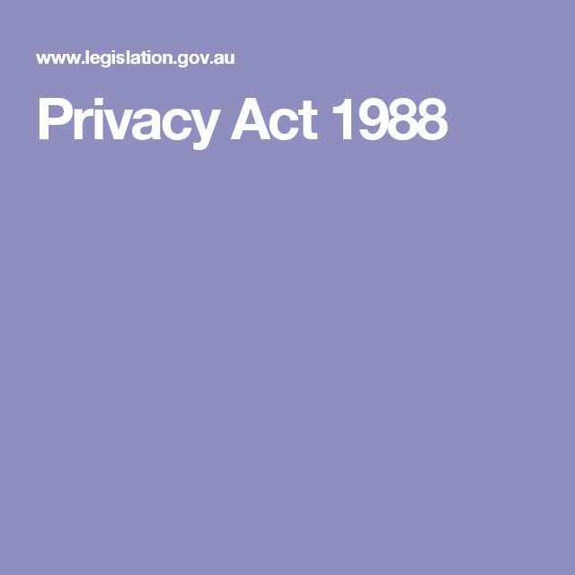 Privacy Act 1988