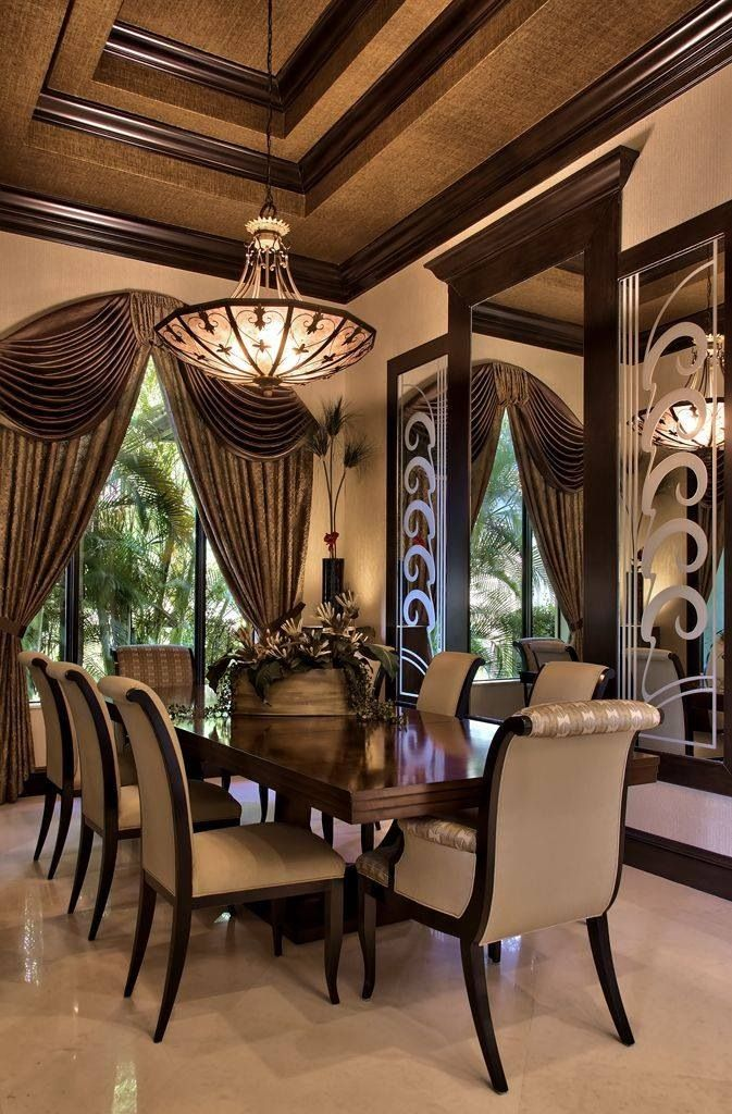 57 best coffered ceilings images on pinterest living for Beautiful traditional dining rooms