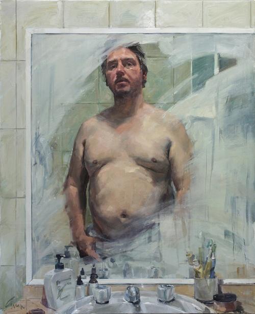 Evert Ploeg - Self Portrait in Bathroom