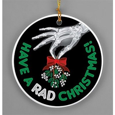 """Have+a+Rad+Christmas""+Rad+Tech+Mistletoe+Porcelain+Ornament"