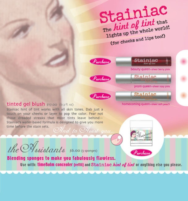 the Balm } Stainiac, hint of tint for cheeks and lips