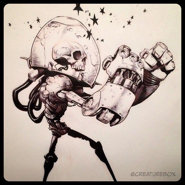 #inktober Day 15: Numb Skull. Brush pen and ballpoint.   Use Instagram online…