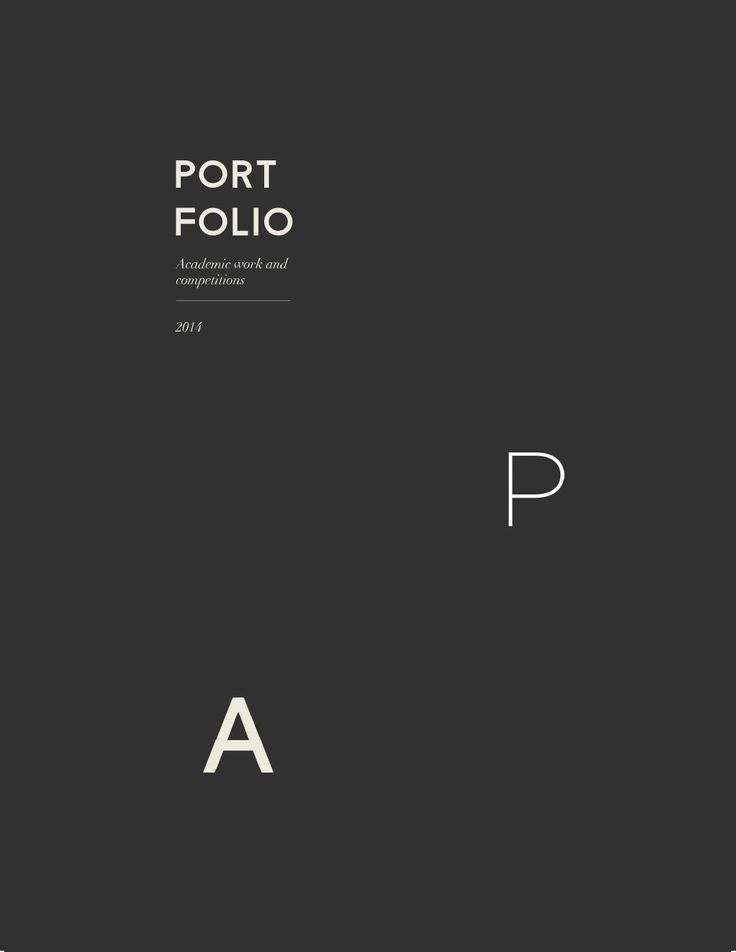 Best 25+ Portfolio architecture cover ideas on Pinterest - online resume portfolio